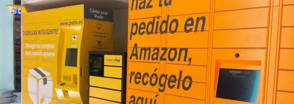 La recogida de paquetes en taquillas de Amazon y Correos reinventa la logística